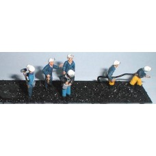 F211p Painted 6 x assorted Coal Miners OO 1:76 Scale Model Kit