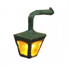 F227 Illuninated Kit Plain Wall Mounted Lamp Unpainted Kit OO Scale 1:76