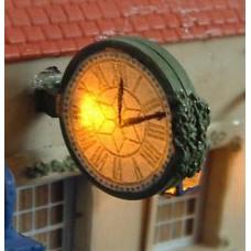 F229 Illuminated Wall Clock incl led & resistor Unpainted Kit OO Scale 1:76