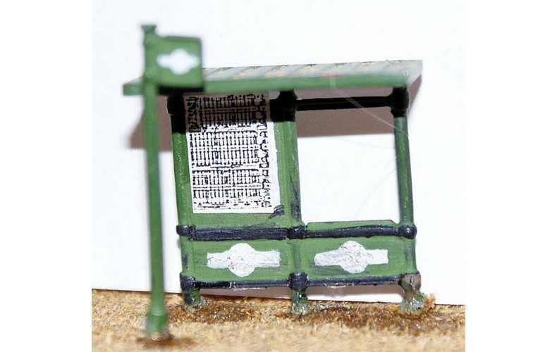 F22 Modern Bus Shelter & bus stop F22 Unpainted Kit OO Scale 1:76