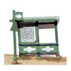 F22p Painted Modern Bus Shelter & Stop OO Scale 1:76
