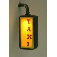 F230 Illuminated taxi,hairdresser,fish & chip sign Unpainted Kit OO Scale 1:76