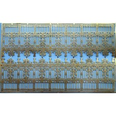 F237 Ornate 'Cast Iron' Fencing for Statley Home F237 Unpainted Kit OO Scale 1:76