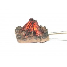 F239 Illuminated Camp Fire (incl resistor&led) Unpainted Kit OO Scale 1:76