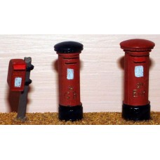 F24 3 assorted Pillar Boxes F24 Unpainted Kit OO Scale 1:76