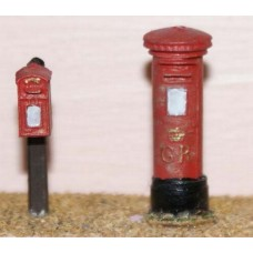 F24a 2 x G.R. Pillar Boxes F24a Unpainted Kit OO Scale 1:76