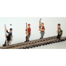 F260p Painted 4 x Track Repairs track straighteners OO 1:76 Scale Model Kit