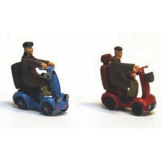 F276p Painted Mobility Scooters OO 1:76 Scale Model Kit