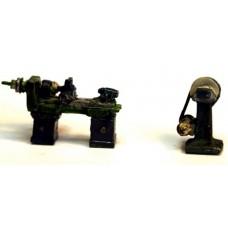 F286 Ind Machine Lathe & vertical sander F286 Unpainted Kit OO Scale 1:76