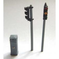 F28p Painted Single Head Traffic Light OO Scale 1:76