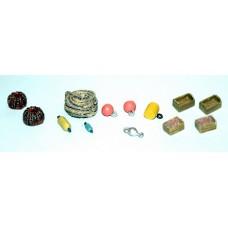 F294 Wharfside/Jetty Clutter (rope, bouys, fenders) F294 Unpainted Kit OO Scale 1:76