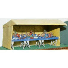 F298 18ft Market Stall - Toy stall F298 Unpainted Kit OO Scale 1:76