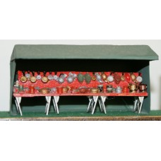 F299 18ft Market Stall - Grocer/general stall F299 Unpainted Kit OO Scale 1:76