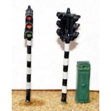F29 2 twin head Traffic Lights & box F29 Unpainted Kit OO Scale 1:76