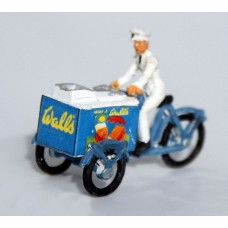 F2 upgraded Ice Cream Vendor & incl transfers Unpainted Kit OO Scale 1:76