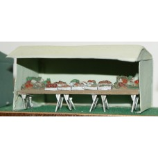 F300 18ft Market Stall - Vegetable stall F300 Unpainted Kit OO Scale 1:76