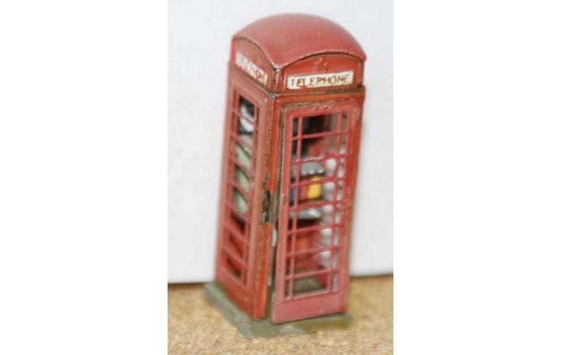 F31 Telephone box. Series 6. 1936 on F31 Unpainted Kit OO Scale 1:76