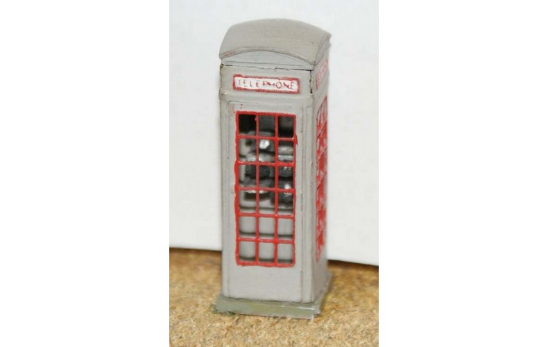 F32 Period Telephone box. 1929 on F32 Unpainted Kit OO Scale 1:76