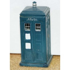 F33p Painted Police Telephone box (resin) OO Scale 1:76
