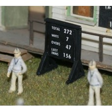 F35cp Painted Cricket Score Board OO Scale 1:76
