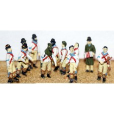 F36 Morris Dancers & Musicians Unpainted Kit OO Scale 1:76