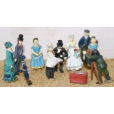 F38 Victorian Wedding Party Unpainted Kit OO Scale 1:76