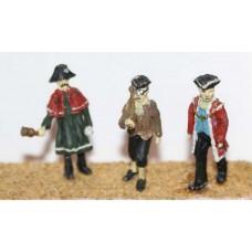 F39 Town Hall Dignitaries - 3 figures Unpainted Kit OO Scale 1:76