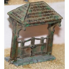 F40 Lych Gate (suitable for churchyard) F40 Unpainted Kit OO Scale 1:76