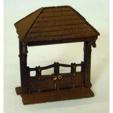 F40p Painted Lych Gate OO Scale 1:76