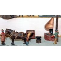 F47 Blacksmith's Forge scene Unpainted OO 1:76 Scale Model Kit