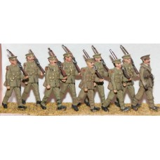 F49 8 soldiers & 1 Officer (1908-37) Unpainted Kit OO Scale 1:76