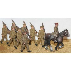 F50 8 soldiers & 1 Mounted Officer Unpainted Kit OO Scale 1:76