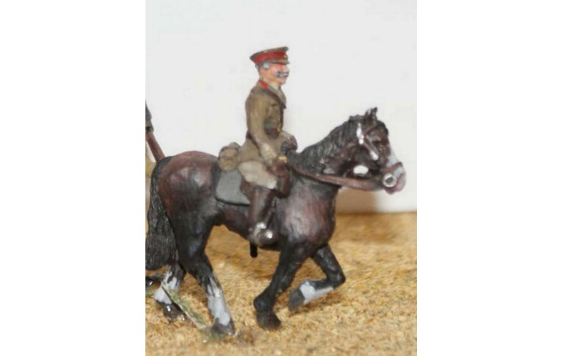 F50p Painted 1 Mounted Officer OO 1:76 Scale Model Kit