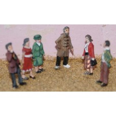 F54p Painted 6 x Standing figues set 3 OO 1:76 Scale Model Kit