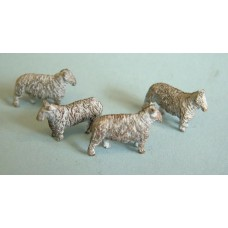 F58 4 Standing Sheep F58 Unpainted Kit OO Scale 1:76