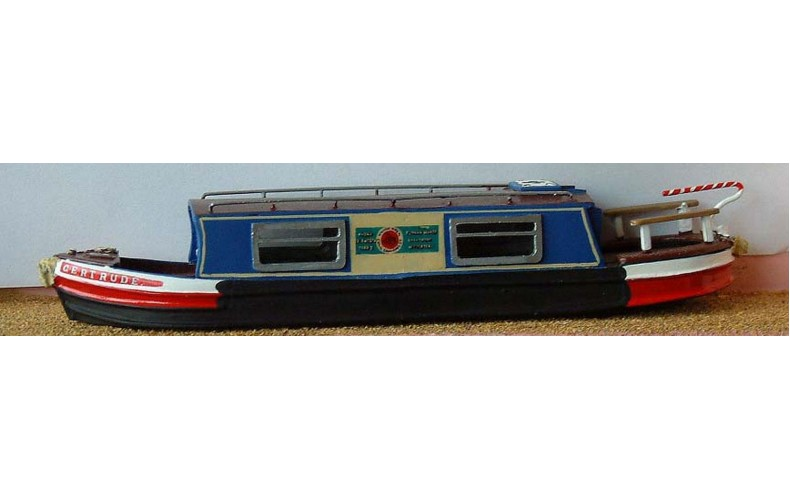 F5b 35ft Holiday Canal Boat Resin Body Unpainted Kit OO Scale 1:76