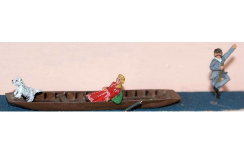 F60 Punt with stranded boatman Unpainted Kit OO Scale 1:76