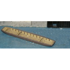 F61p Painted Single River Punt OO 1:76 Scale Model Kit