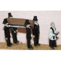 F64 Victorian Funeral Scene Unpainted Kit OO Scale 1:76