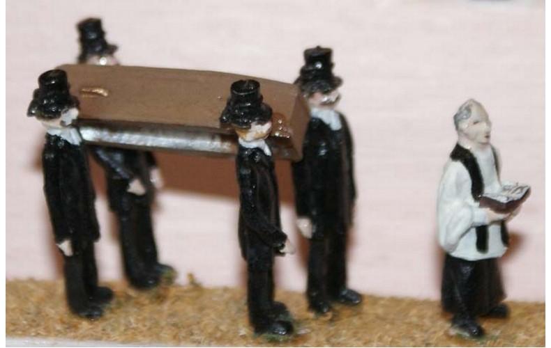 F64 Victorian Funeral Scene Unpainted Kit OO Scale 1:76