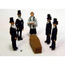 F64p Painted Funeral Scene OO 1:76 Scale Model Kit