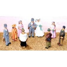 F74 White Wedding scene (1940's on) Unpainted Kit OO Scale 1:76