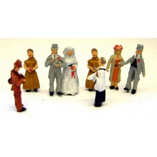 F74p Painted White Wedding scene (8 figs) OO 1:76 Scale Model Kit