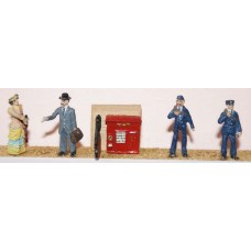 F75g Post Office fitting & figures Unpainted OO 1:76 Scale Model Kit