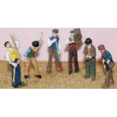 F90p Painted 6 x Working Action figures set1 OO 1:76 Scale Model Kit