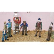 F91 6 Working figures - set 2 Unpainted Kit OO Scale 1:76
