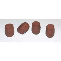 F93 4 large Oak Barrels F93 Unpainted Kit OO Scale 1:76