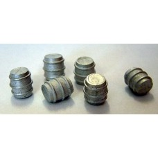 F93a 6 Aluminium Beer Barrels F93a Unpainted Kit OO Scale 1:76