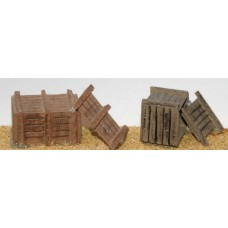 F94 2 large Wooden Packing Cases F94 Unpainted Kit OO Scale 1:76