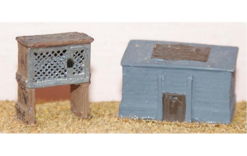 F97 Rabbit hutch & coal bunker F97 Unpainted Kit OO Scale 1:76